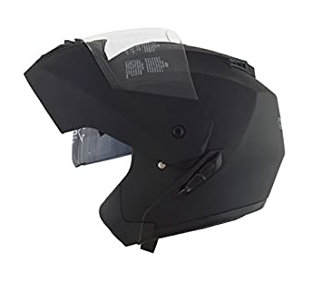 Casco Moto Modular a Doble Visera para Scooter Casco integral – Negro Mate S
