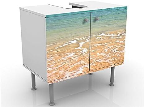 Apalis Waschbeckenunterschrank Terra Azura 60x55x35cm Design Waschtisch Gr/ö/ße:55cm x 60cm