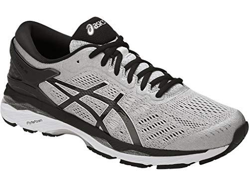 (ASICS Mens Gel-Kayano 24 Running Shoe Silver/Black/Mid Grey 9.5 4E US)