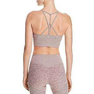 Alo Yoga Womens Open Back Yoga Athletic Bra Pink US L