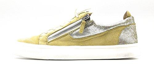 GIUSEPPE ZANOTTI London SC Uomo Metallic-Leather & Suede Low Top Sneaker