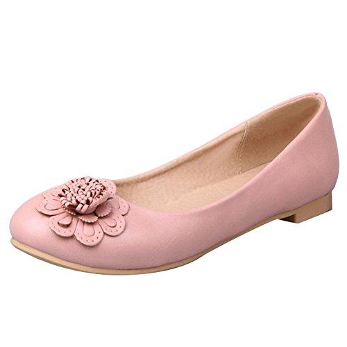 Baret Dames Applique Retro Casual Comfort Flats Schoenen Roze