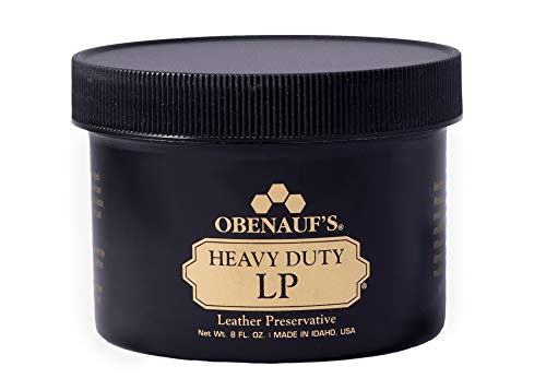 Obenauf's Heavy Duty LP Leather Conditioner Natural Oil Beeswax Formula (8oz) (Boot Conditioner)