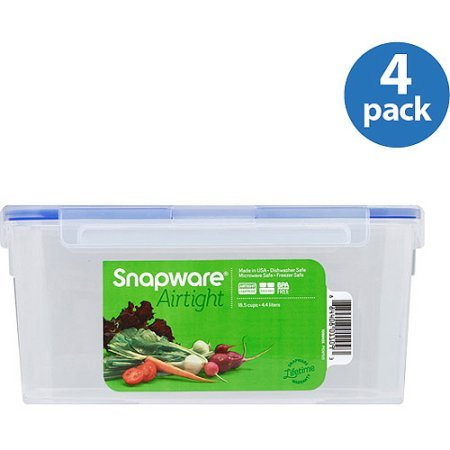 Snapware 18.5-Cup Airtight Rectangle Food Storage Contain...