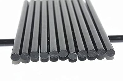 50pcs Black Hot Melt Glue Sticks, 11mm x 190mm