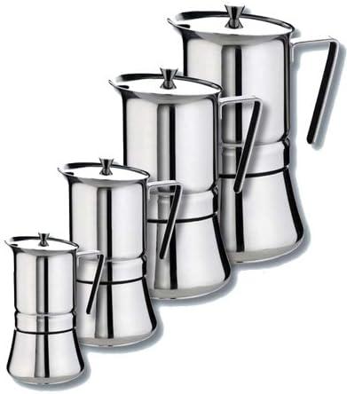 GAT Italia Pratika - Cafetera de acero inoxidable para 10 tazas (12 x 18 x 23 cm): Amazon.es: Hogar