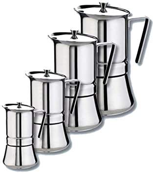 GAT Italia Pratika - Cafetera de acero inoxidable para 10 tazas ...