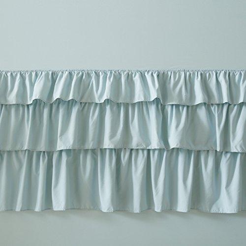 Madison Park Grace Ruffled Shabby Chic Girly Princess Bathroom Shower Curtain, 72X72 Inches, Blue (Blue Park Madison Shower Curtain)