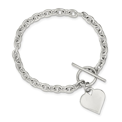 Tiffany Style Heart Toggle Bracelet - 925 Sterling Silver Heart Toggle Bracelet Charm W/charm /love Fine Jewelry For Women Gift Set