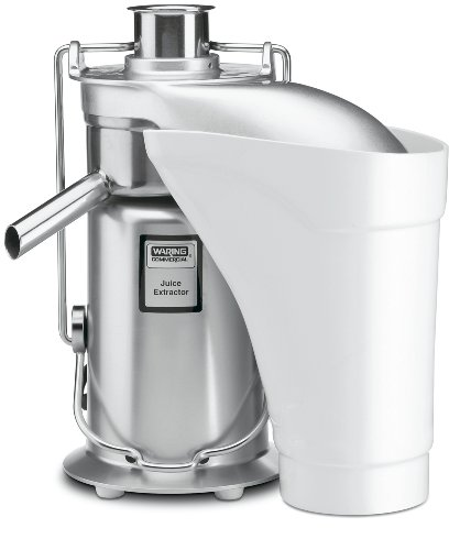Waring Commercial JE2000 Heavy-Duty Stainless Steel Juice Extractor with Pulp Ejection