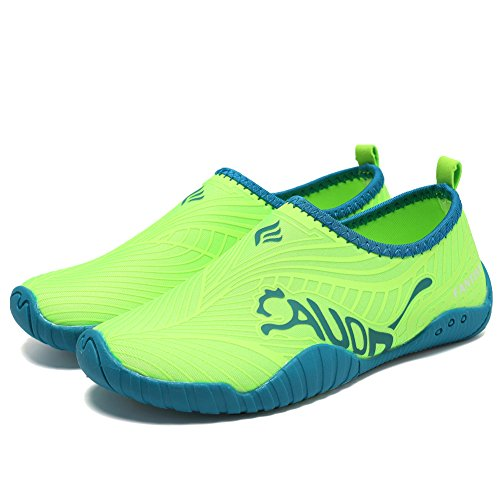 CIOR Kids Water Shoes Quick-Dry Boys and Girls Slip-on Aqua Beach Sneakers (Toddler/Little Kid/Big Kid),VY03,3green,31 2