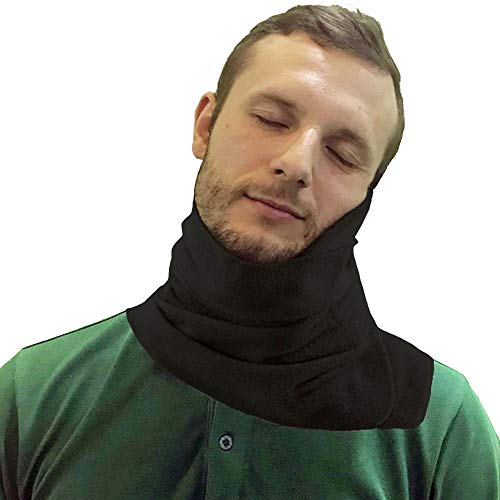 Travel Pillow - Airplane Pillow Scarf Travel Neck Support Wrap Around - Travel Sleep Accessory - Black