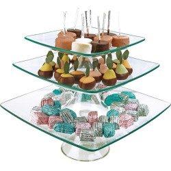 Palais Glassware® Elegent Glass Cupcake or Cake Stand - Party Centerpiece (8