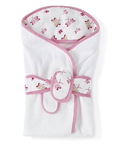 Infant aden + anais Cotton Hooded Bath Towel - Pink