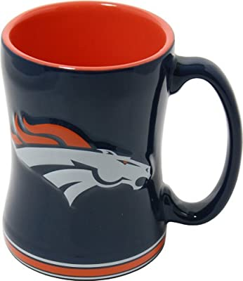 Denver Broncos 15 Ounce Sculpted Logo Relief Coffee Mug by Boelter Brands