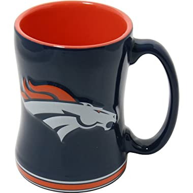 Denver Broncos 15 Ounce Sculpted Logo Relief Coffee Mug