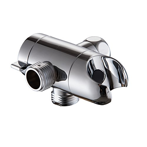 Shower Head Bracket with 3-Way Diverter and Outlet - Showerhead Combo Connector (Brackets Kit Combo)