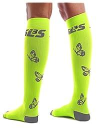 Women's Compression Socks Graduated (20-30mmHg) | For Running, Travel, Nurses, Maternity Pregnancy, Shin Splints, Calf and Leg Pain | Below Knee High Socks | German Designed