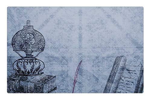 Tree26 Indoor Floor Rug/Mat (23.6 x 15.7 Inch) - Background Books Lamp Scrapbooking Paper Texture