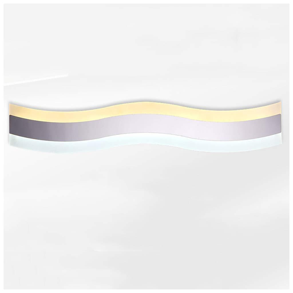 FJH LED Spiegel Scheinwerfer Wandleuchte Einfache Edelstahl Freies Stanzen Badezimmerspiegel Licht Anti-fog Spiegel Kabinett Licht (Größe   50cm20w)