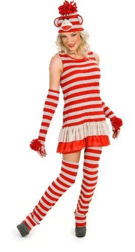 Princess Paradise Women's Sassy Sock Monkey Adult Costume Medium (8/10) Brown - Sock Puppet Costume Monkey