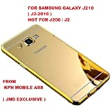 KPH Luxury Mirror Effect Acrylic back + Metal Bumper Case Cover For Samsung Galaxy J2 2016/J210 Edition