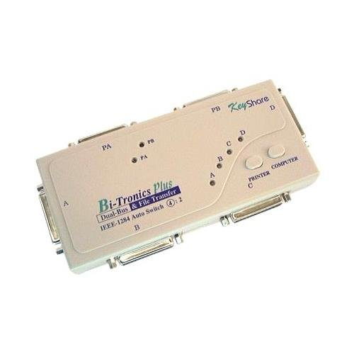Bi-Tronics Auto Switch Box 4 Computers to 2 IEEE 1284 Printers