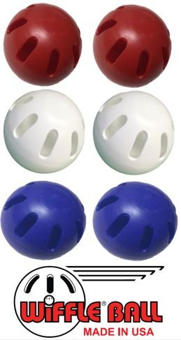Wiffle Ball U.S.A Set Includes - Official Wiffle Ball Products - Red Wiffle Ball Set, White Wiffle Ball Set, Blue Wiffle Ball Set by Wiffle