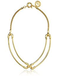 """Giles and Brother """"Cortina"""" Double Link Collar Choker Necklace, 12"""""""