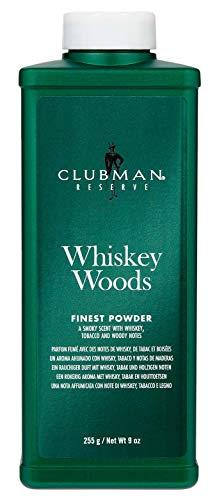 Talc Clubman - Clubman Clubman 9 ounce reserve whiskey woods cornstarch powder, 9 Ounce