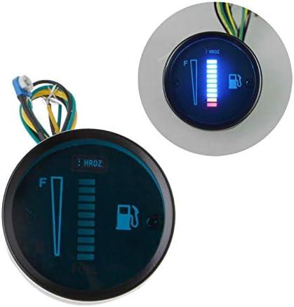WonVon Digital Fuel Level Gauge,12V Universal Fuel Meter 2 52mm Car Motorcycle Fuel Level Meter Gauge LED Light Display