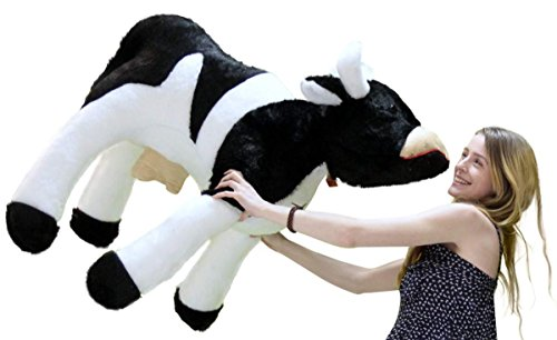Amazon.com  Big Plush American Made Giant Stuffed Cow 3 and a Half Feet  Long Farm Animal Soft 42 Inches Long Made in The USA America  Toys   Games 5c52eebcdacb