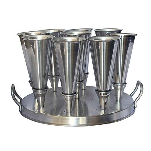 Forma Redonda Aluminio Para Pizza Cone 17cm com 9cones - Gastrobel