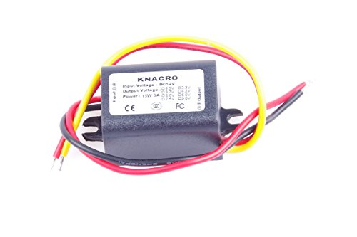 KNACRO DC-DC 12V to 3.3V 2A Step-Down Power Supply Module Car Power Converter Module Synchronous Buck with Reverse Connection ()