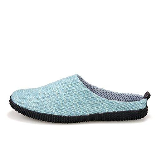 Plano Casuales Zapatos sólido De Superior EU Color Color Sky en Hombres tamaño Meimei Lona talón 42 Blue los Mocasines shoes Deslizamiento holgazán 5Z6qxnw470