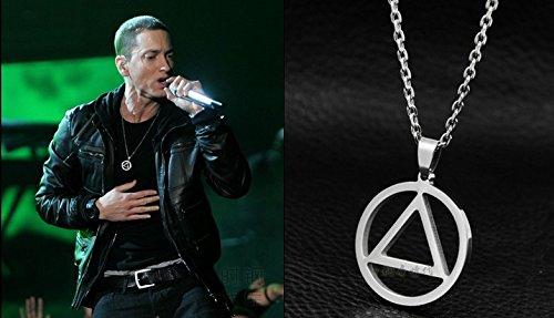 Pendentif Collier Triangle Eminem Rap Hip-Hop + Chaine.