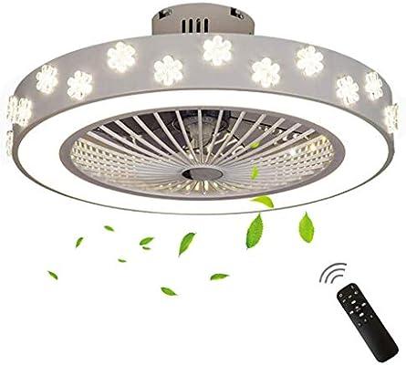 Hlidpu Luz de Ventilador de Techo Invisible Accesorios LED Ventiladores de Techo con Interruptor Remoto de 7 Cuchillas para Dormitorio, Sala, Comedor: Amazon.es: Hogar