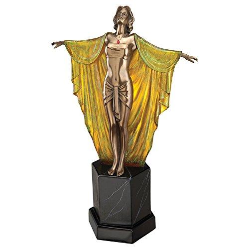 Design Toscano Majestic Maiden Art Deco Illuminated Sculpture, Multicolor ()