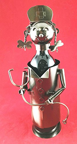 cute-registered-nurse-on-duty-hospital-clinic-hand-made-metal-wine-bottle-holder-caddy-great-gift-fo