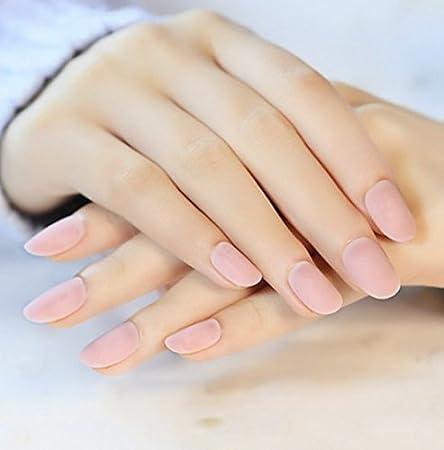 24pcs Fashion Style Symphony Shell Color Blue Metal Shine Bent Lady Artificial False Nail Tips Z089 Coolnail