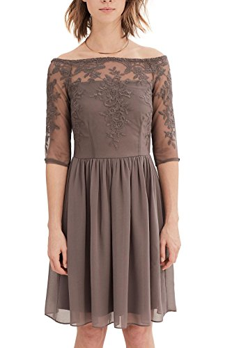 ESPRIT Collection Femme Robe Marron Taupe OqOr7xw