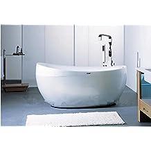 GOWE Construction & Real Estate Floor Stand Bathtub Faucets Brass Chrome Free Standing Bath Shower Mixer Set Mixer Tap Faucet