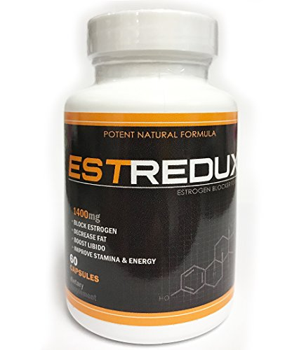 VH Nutrition Estredux Estrogen Blocker for Men | Aromatase Inhibitor and Anti Estrogen - 30 Day Supply - 60 Capsules