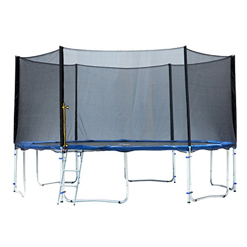 Exacme TUV Approved Trampoline with Safety Pad & Enclosure Net & Ladder All-in-One Combo Set, 15'