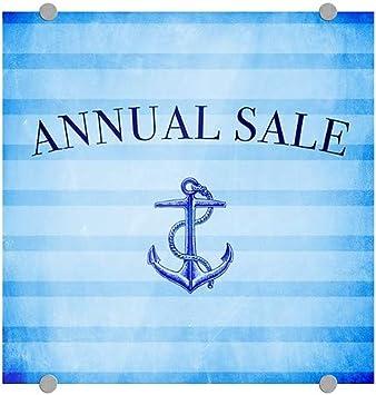 Nautical Stripes Premium Brushed Aluminum Sign Annual Sale 5-Pack 16x16 CGSignLab