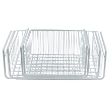 Southern Homewares Wire Under Shelf Storage Basket, 4 Piece Set, White