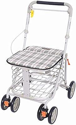 Trolley Senior Para Personas Mayores 4 Ruedas Rollator Ligero Walker Carrito Para Caminar Con Asas Ajustable, 8 Kg,#1: Amazon.es: Hogar