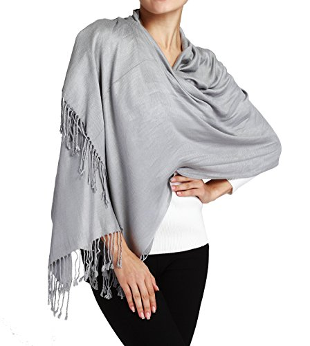 Butterfly Rose Silky Soft Solid Premium Pashmina Shawl Wrap Scarf Stole 78