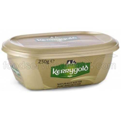 Kerrygold Naturally Softer Pure Irish Butter, 8 Ounce Tub -- 16 per case.