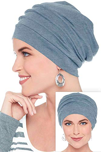 Headcovers Unlimited Slouchy Snood-Caps for Women with Chemo Cancer Hair Loss Denim Chambrey